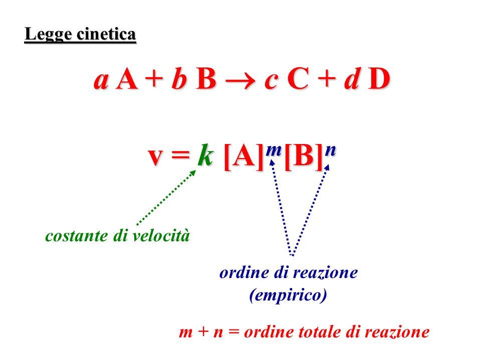 a A + b B  c C + d D v = k [A]m[B]n